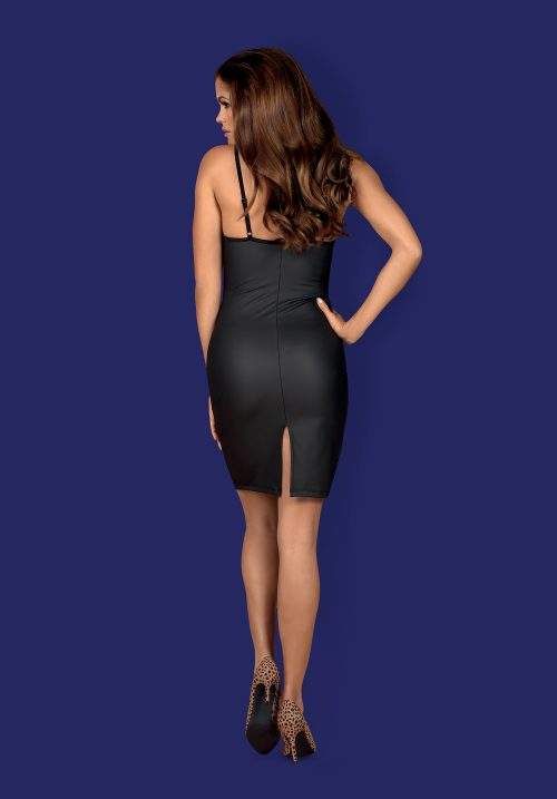 obsessive rebella dress flirtoshop.com.ua 4 500x717 - Длинное платье до колен под кожу Obsessive Rebella dress