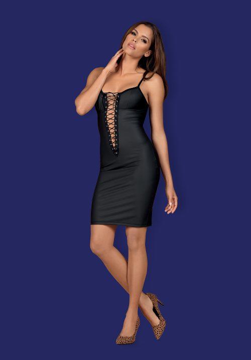obsessive rebella dress flirtoshop.com.ua 500x717 - Длинное платье до колен под кожу Obsessive Rebella dress