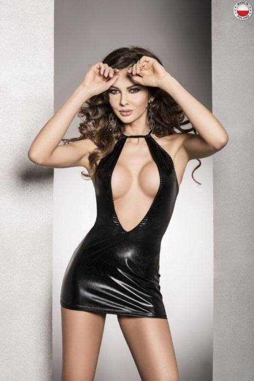 femi dress passion flirtoshop.com.ua 500x749 - Платье под лайкру с вырезом FEMI DRESS Passion
