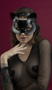 feral feelings catwoman mask flirtoshop.com.ua 181x312 - Маска кошки из кожи  Feral Feelings - Catwoman Mask