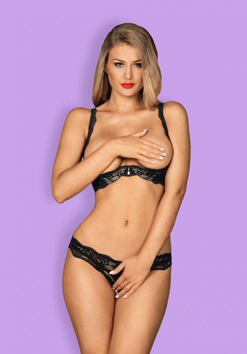 luvae obsessive flirtoshop.com.ua 14 500x717 - Комплект  лиф с открытой грудью и стринги с разрезом Luvae  Obsessive
