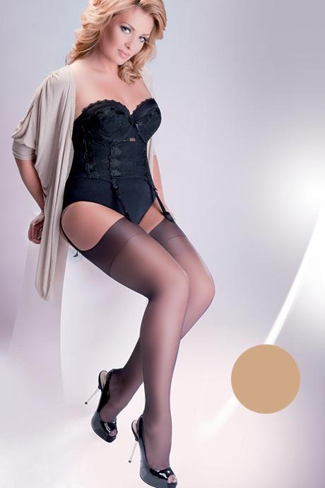 gabriella calze cher 15 den flirtoshop.com.ua 1 - Чулки под пояс большого размера Gabriella Calze Cher 15 den