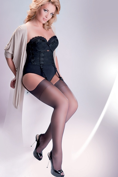 gabriella calze cher 15 den flirtoshop.com.ua - Чулки под пояс большого размера Gabriella Calze Cher 15 den