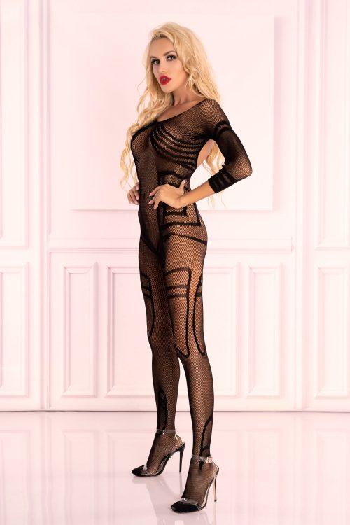 monata livia corsetti flirtoshop.com.ua 500x750 - Цельная нательная сетка с длинным рукавом Monata Livia Corsetti