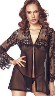 flirtoshop.com.ua 11 181x312 - Легкий пеньюар с длинными кружевными рукавами Anais Jolie