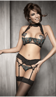 anais pleasure flirtoshop.com.ua 181x312 - Комплект - лиф с открытой грудью, стринги, пояс для чулок Anais Pleasure
