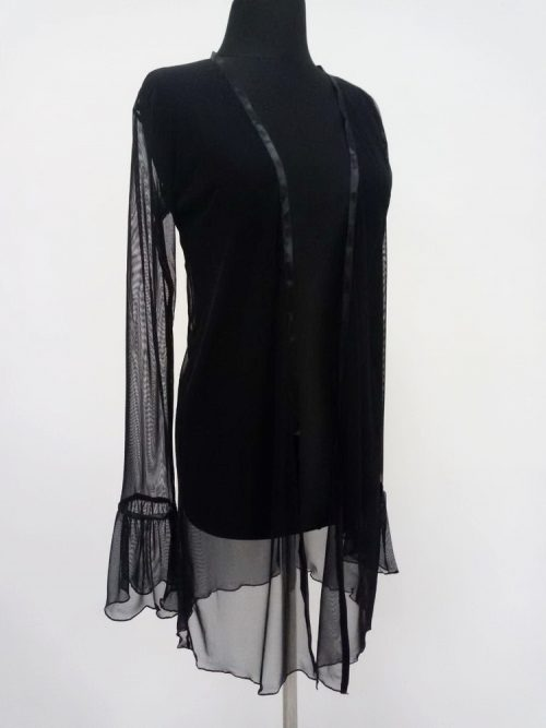 monelita livia corsetti flirtoshop.com.ua 2 500x667 - Прозрачный халат с длинным рукавом Monelita Livia Corsetti