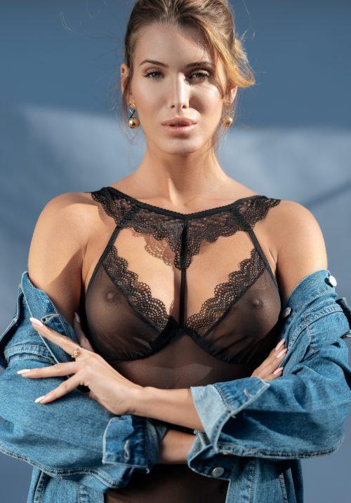 obsessive 857 che 1 chemise flirtoshop.com.ua 2 500x717 - Прозрачная приталенная сорочка Obsessive 857-CHE-1 chemise