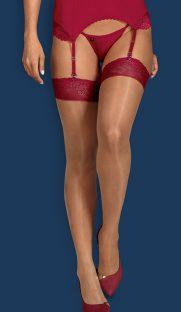obsessive rosalyne flirtoshop.com.ua 181x312 - Чулки под пояс телесно-красные Obsessive Rosalyne