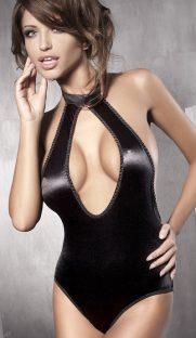 flirtoshop.com.ua 24 181x312 - Боди с глубоким декольте из блестящей ткани