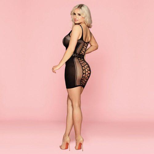 flirtoshop.com.ua 11 500x500 - Эластичное платье в сетку с имитацией пояса