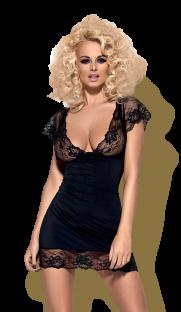 flirtoshop.com.ua 181x312 - Эластичная сорочка с рукавами воланами Obsessive Idillia chemise