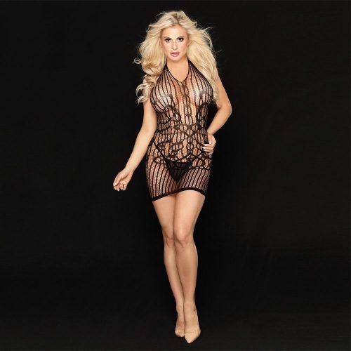 flirtoshop.com.ua 2 500x500 - Платье-сетка с бретелью через  шею