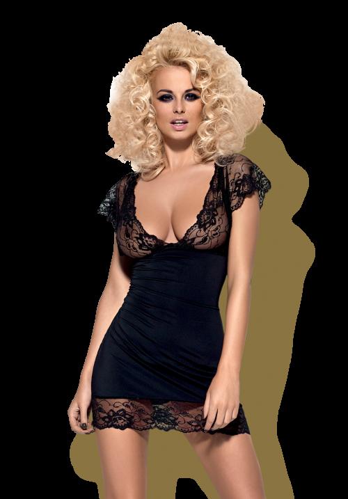 flirtoshop.com.ua 500x717 - Эластичная сорочка с рукавами воланами Obsessive Idillia chemise