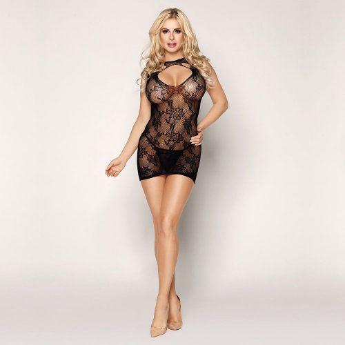 flirtoshop.com.ua 6 500x500 - Эластичное платье-сетка с вырезом декольте