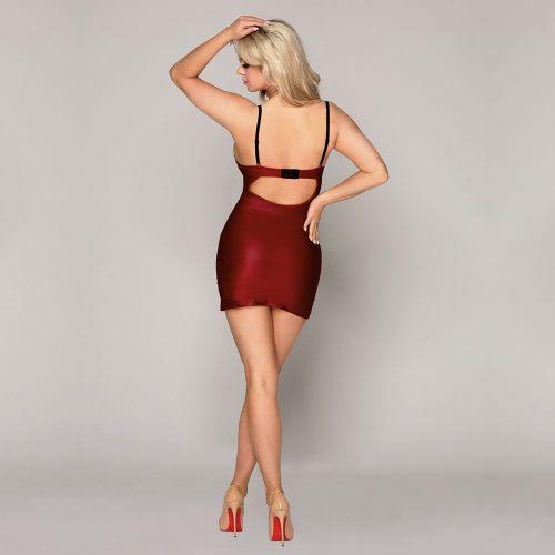 flirtoshop.com.ua 9 500x500 - Облегающее бордовое платье с кружевом