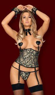 obsessive shelle corset flirtoshop.com.ua 181x312 - Пояс-корсет на вертикальных косточках Obsessive Shelle corset