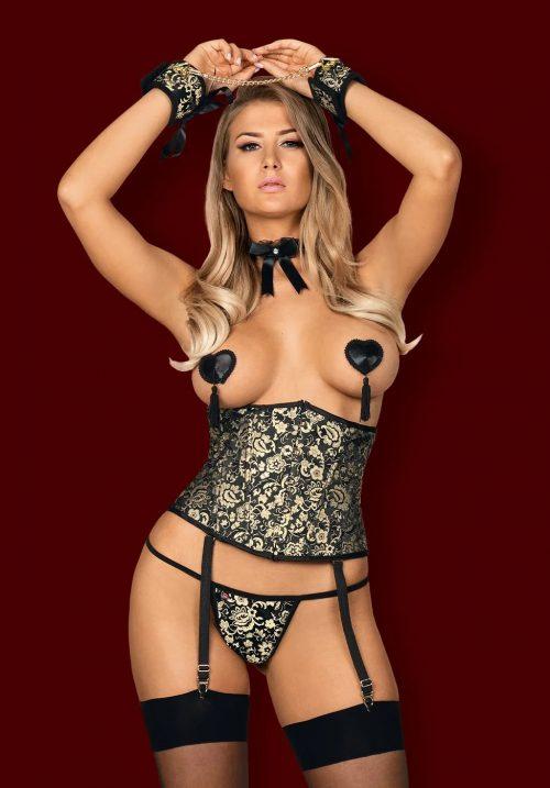 obsessive shelle corset flirtoshop.com.ua 500x717 - Пояс-корсет на вертикальных косточках Obsessive Shelle corset